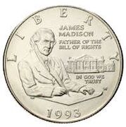 USA Bill of Rights Half Dollar James Madison 1993