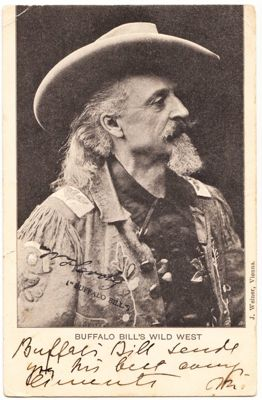 Autogrammkarte Buffalo Bill Cody