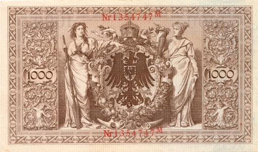 1000 Mark Reichsbanknote 1910