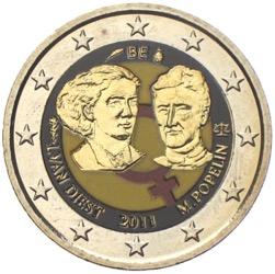 2 Euro Farbmünzen Euromünzen Koloriert