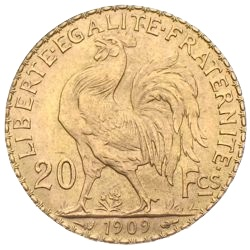 20 Francs Goldmünze