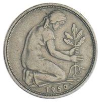 50 Pfennig Bank Deutscher Länder Münzhandel W Graf