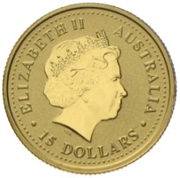 Australien Lunar Hase in Gold 15 Dollar 1999