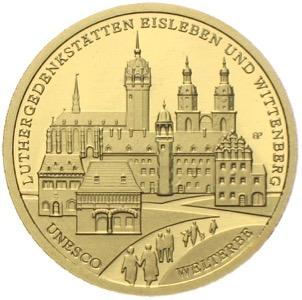 100 Euro Goldmünze Wittenberg Eisleben 2017