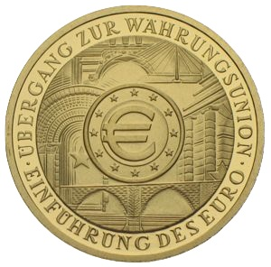 100 Euro Goldmünze 2002