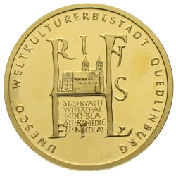 100 Euro Gold Quedlinburg 2003