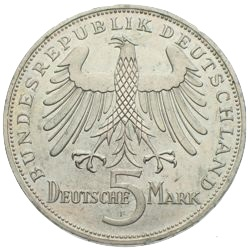 5 Mark Schiller gedenkmünze