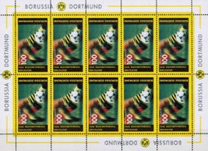Briefmarken 10er Block BVB Deutscher Meister