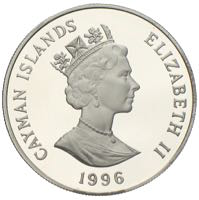 Cayman Islands Silber Dollar 1996