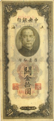 China Customs Gold Units 1930