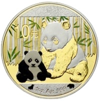 China Panda 10 Yuan 2012 Bull & Bear Investment Collection
