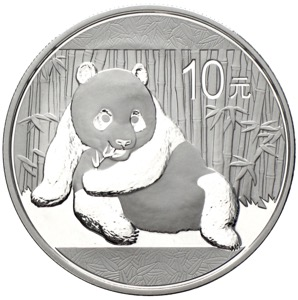 China Panda 10 Yuan 2015 Silber