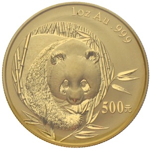 China Panda 2003 500 Yuan 1 Unze Gold
