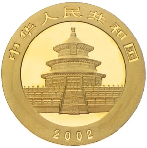 China Panda 2002 500 Yuan Unze Gold