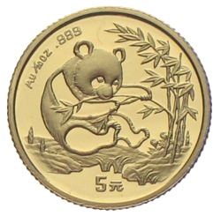 China Panda Unze Gold 5 Yuan