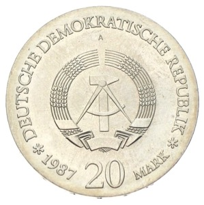 DDR 20 Mark historisches Stadtsiegel 1987