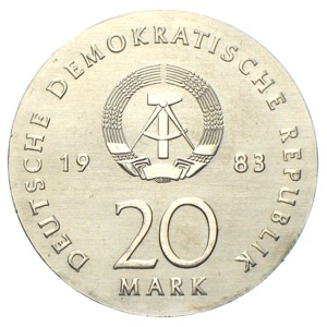 DDR - 20 Mark Martin Luther 1983