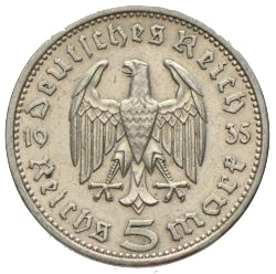 Ankauf 5 Reichsmark Paul Von Hindenburg Münzhandel W Graf