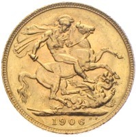 Sovereign Edward VII. 1906 Großbritannien Goldmünze