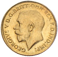 Sovereign Georg V. 1913 Großbritannien Goldmünze