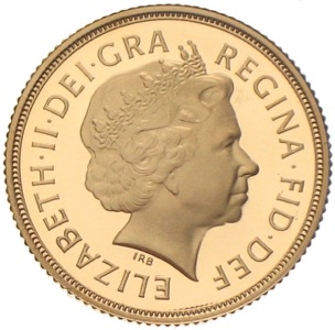 Gold Sovereign Queen Elizabeth Diamond Jubilee