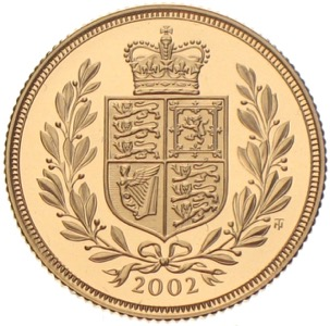 Gold Sovereign Golden Jubilee of  Queen Elizabeth 2002