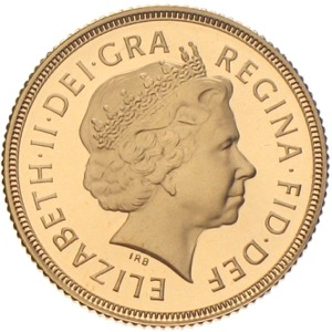 Gold Sovereign Golden Jubilee Queen Elizabeth 2002