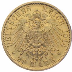 20 Mark Preussen Wilhelm Gold