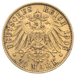 20 Mark Sachsen Georg Gold