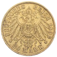 20 Mark Wilhelm Goldmünze