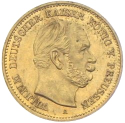 5 Mark Preussen Gold Wilhelm