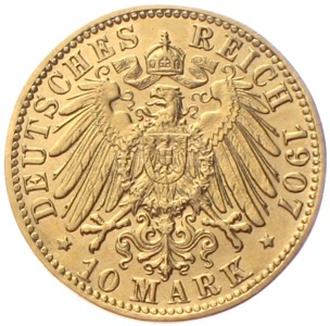 Bremen 10 Mark Gold 1907