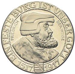 3 Reichsmark Sachsen 1917 Friedrich Der Weise Münzhandel W Graf