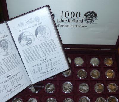 Russische Münzen 1000 Jahre Russland Cccp Gedenkmünzen