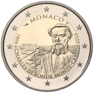 150. Jahre Monte-Carlo 2 Euro 1866 - 2016 Charles III. PP
