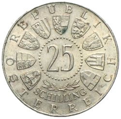 Ankauf Von 25 Schilling Gedenkmünzen österreich