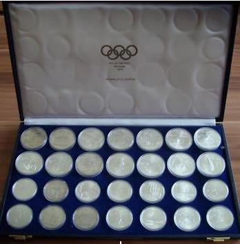 Olympiade Olympiamünzen In Silbergold Münzhandel W Graf