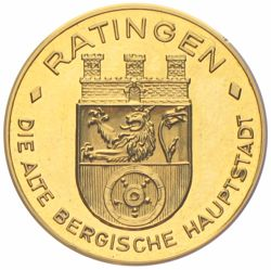 Ratingen Goldmedaille Münzen