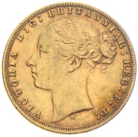 Sovereign Victoria 1876 Goldmünze