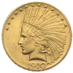 USA Dollar Indianer Gold