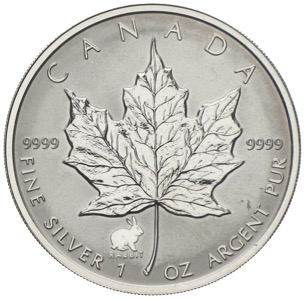 Kanada Maple Leaf Privy Mark Jahr des Hasen 1999
