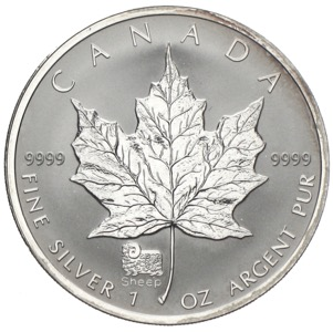 Kanada Maple Leaf Privy Mark Jahr des Schafs 2003