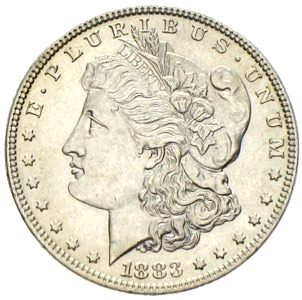 USA Morgan Silberdollar 1883