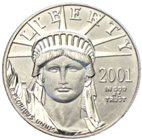 USA 100 Dollars Platin Eagle 2001