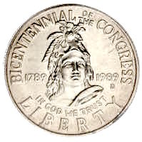 USA Congress Bicentennial Silber Dollar