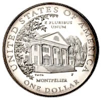 USA Dolley Madison Silber Dollar