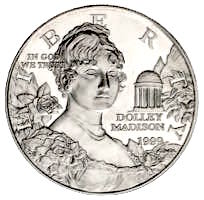 USA Dolley Madison Silber Dollar 1999