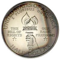 USA Bill of Rights Half Dollar James Madison