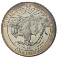 USA Silberdollar Yellowstone Park