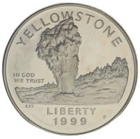 USA Silberdollar Yellowstone Park 1999